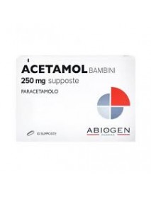 ACETAMOL NIPIO 10 SUPPOSTE 250MG