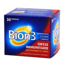 BION 3 30 COMPRESSE Difese Immunitarie Con Vitamina D e Zinco