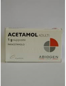 ACETAMOL ADULTI 10 SUPPOSTE 1 G