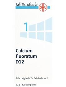 SCHWABE PHARMA CALCIUM FLUORATUM SALE DI SCHLUSSER N.1 D12 50G COMPRESSE
