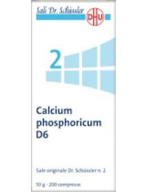 SCHWABE PHARMA CALCIUM PHOSPORICUM SALE DI SCHLUSSER N.2 D6 200 COMPRESSE DHU 50G