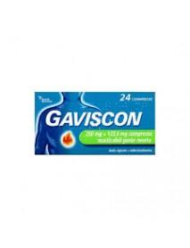 GAVISCON 24 COMPRESSE MASTICABILI GUSTO MENTA 250MG