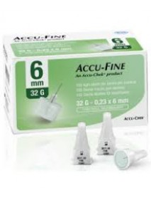 ACCUFINE AGO PEN NEEDLE 32G 6MM