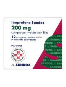 SANDOZ IBUPROFENE 12 COMPRESSE RIVESTITE 200MG