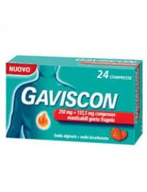 GAVISCON 24 COMPRESSE MASTICABILI GUSTO FRAGOLA 250MG